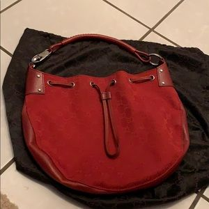Red Gucci Monogram Hobo Bag. Great condition!